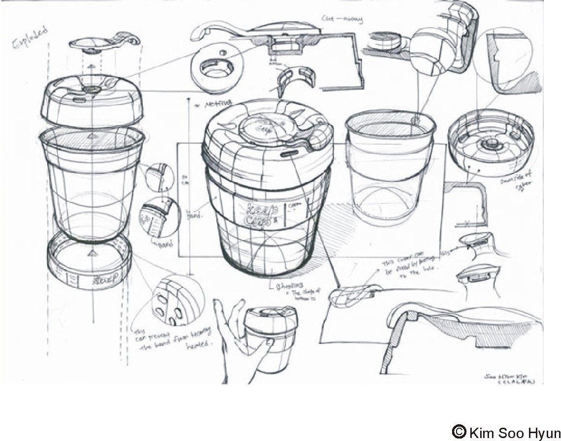 drawon  keep cup sketch lesson