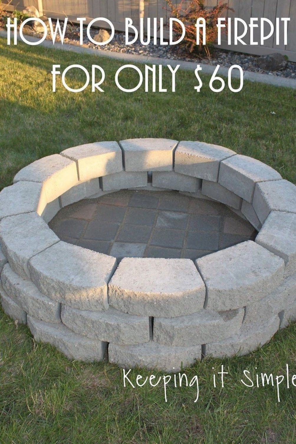 Einfach Halten So Bauen Sie Eine Diy Feuerstelle F R Nur 60 Us Dollar Mehr Bauen Diyfeuerstelle Eine Einfach Firep In 2020 Feuerstelle Diy Terrasse Hintergarten