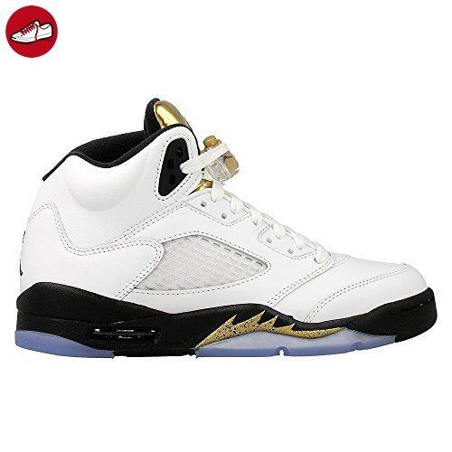 check out c50e5 6296c switzerland nike herren air jordan 5 retro bg basketballschuhe blanco  blanco white black 26588 ac6cc