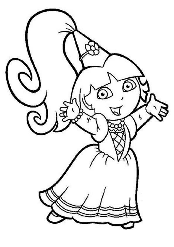 Kleurplaten Dora Als Prinses.Top 25 Awesome Dora Coloring Pages Your Toddler Will Love