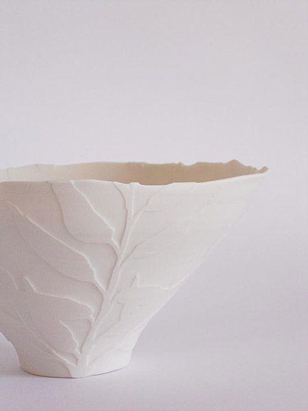 Sarah Walters Handmade Porcelain Wax Resist On Leather Hard