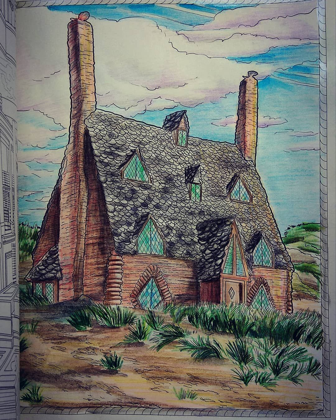 #harrypotter #harrypottercolouringbook #shellcottage by ...