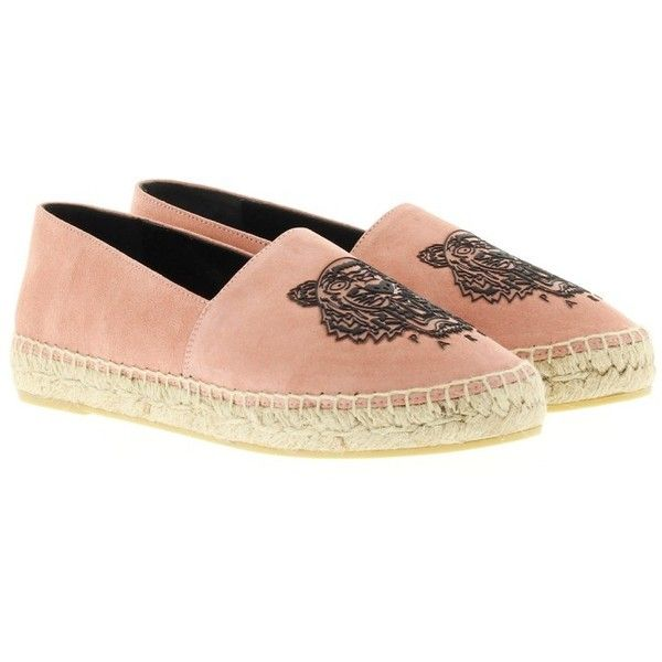 Kenzo Espadrilles, Suede Tiger Espadrilles Strawberry Shoe (61 KWD) ❤ liked  on Polyvore