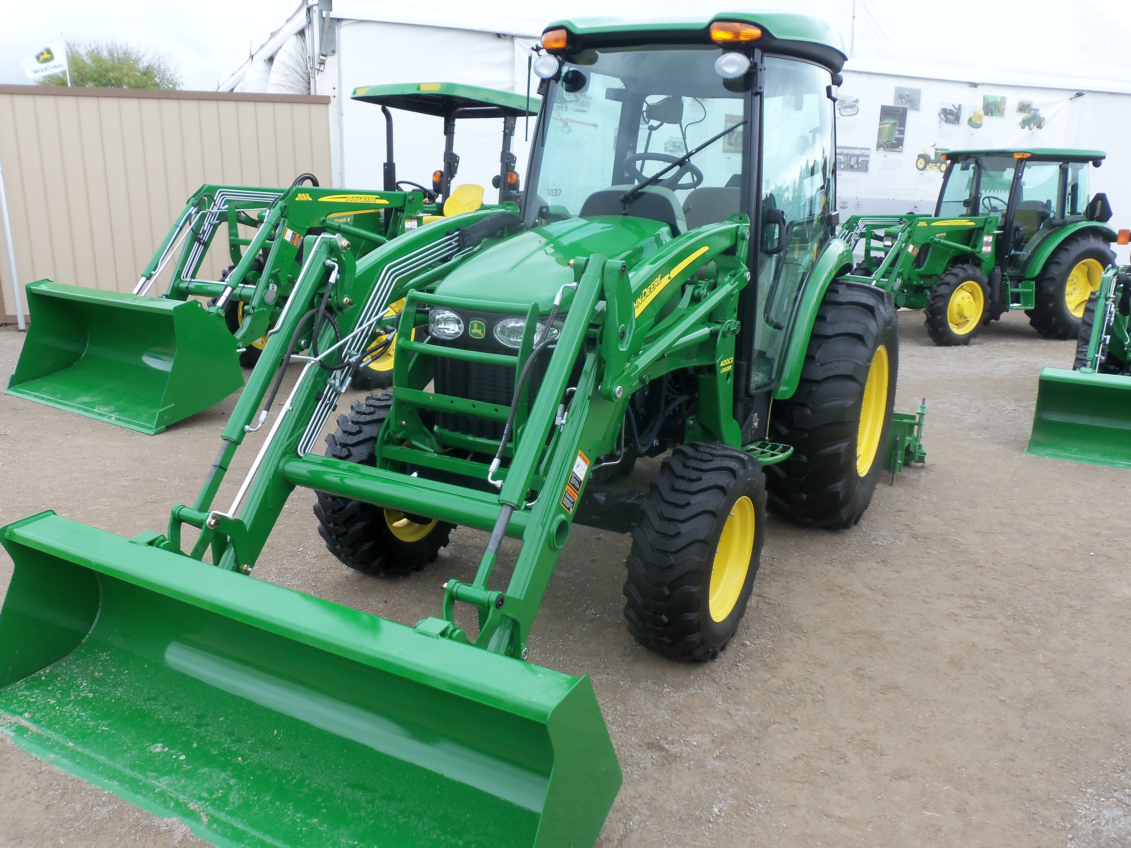 medium resolution of john deere 4320 cab tractor with 400cx loader