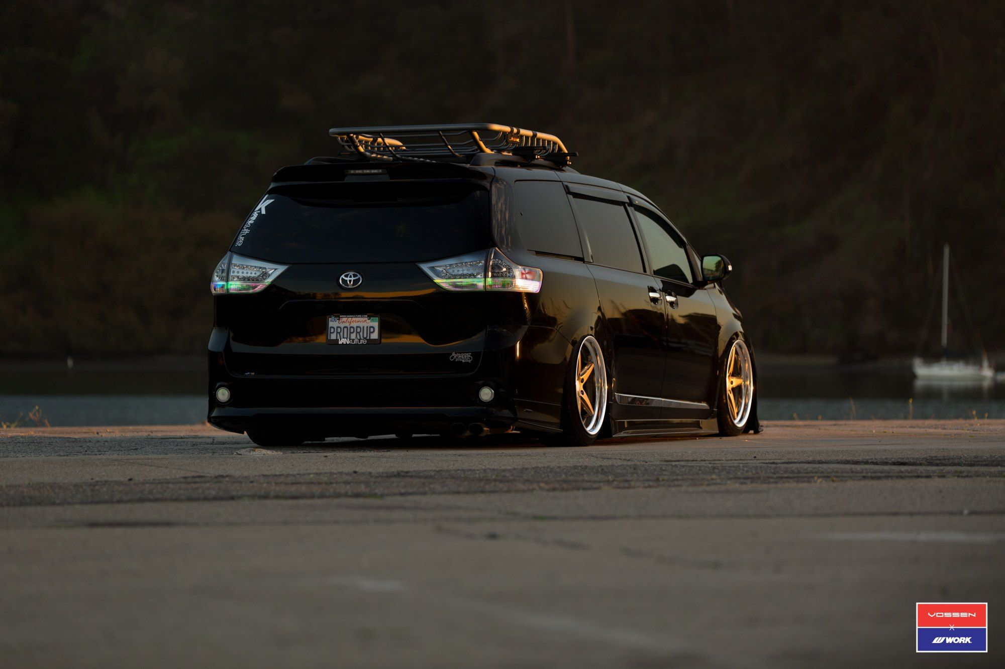 Stanced Out Black Toyota Sienna And Fitted With Custom Body Kit