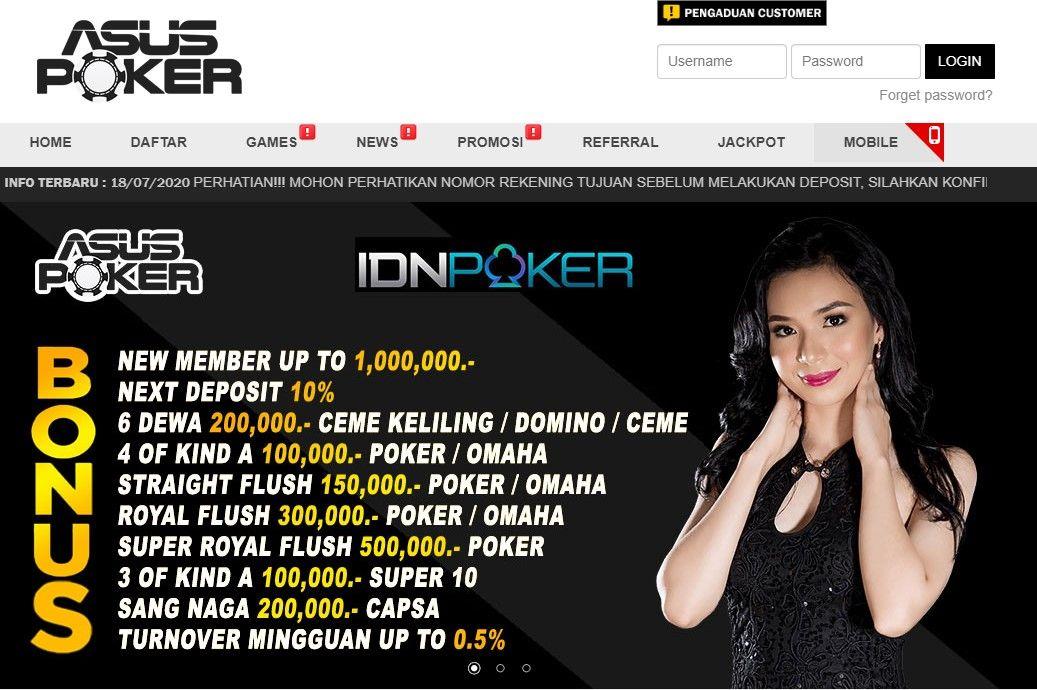 Asuspoker Situs Poker Online Poker Uang Asli Idn Poker Poker