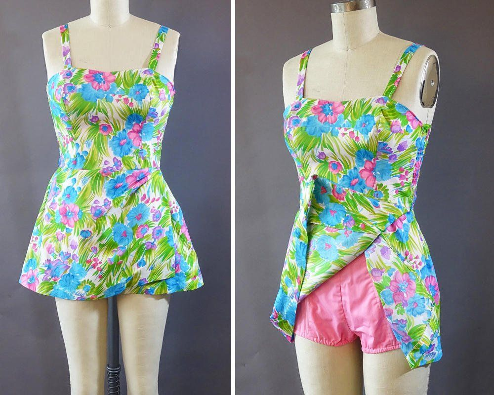 a2ab78951ab Catinas Vintage on Etsy - Vintage Gabar one piece bathing suit swimsuit  with cotton lining
