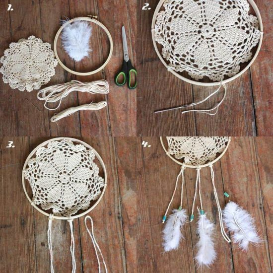 Doily Dream Catchers The Best Ideas Dream Catcher Tutorial Doily Best How To Make Doily Dream Catchers