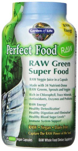 Garden Of Life Perfect Food Raw 240 Capsules Garden Of Life Http Www Amazon Com Dp B003l33hoy Ref Cm Sw R With Images Perfect Food Green Superfood Vegetable Supplement