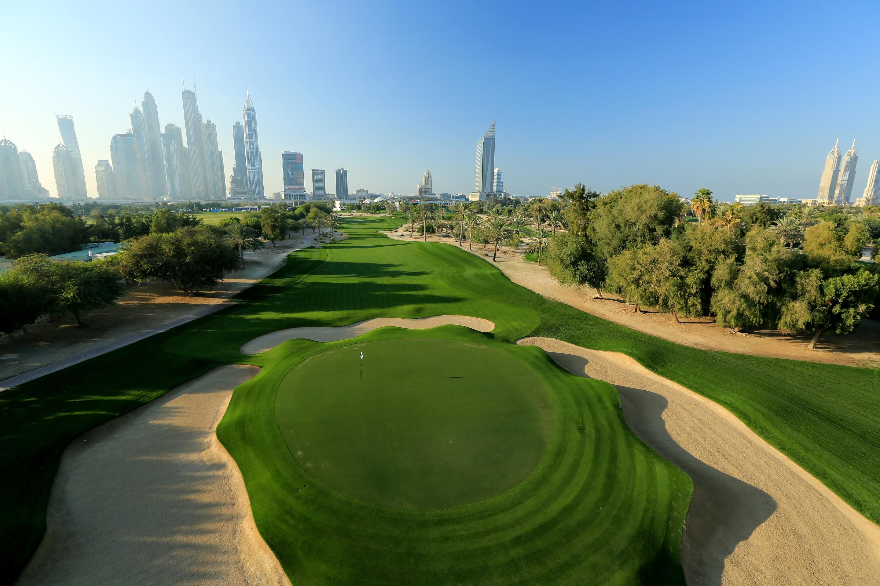 10th Hole On The Majlis Golf Course At Emirates Golf Club, Dubai, UAE