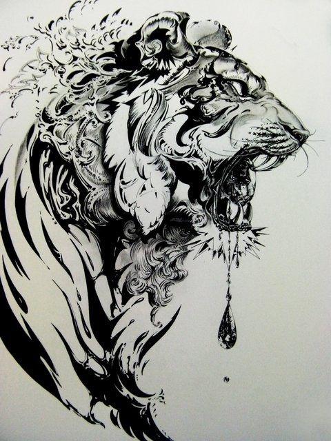 White Tiger Tattoo Designs
