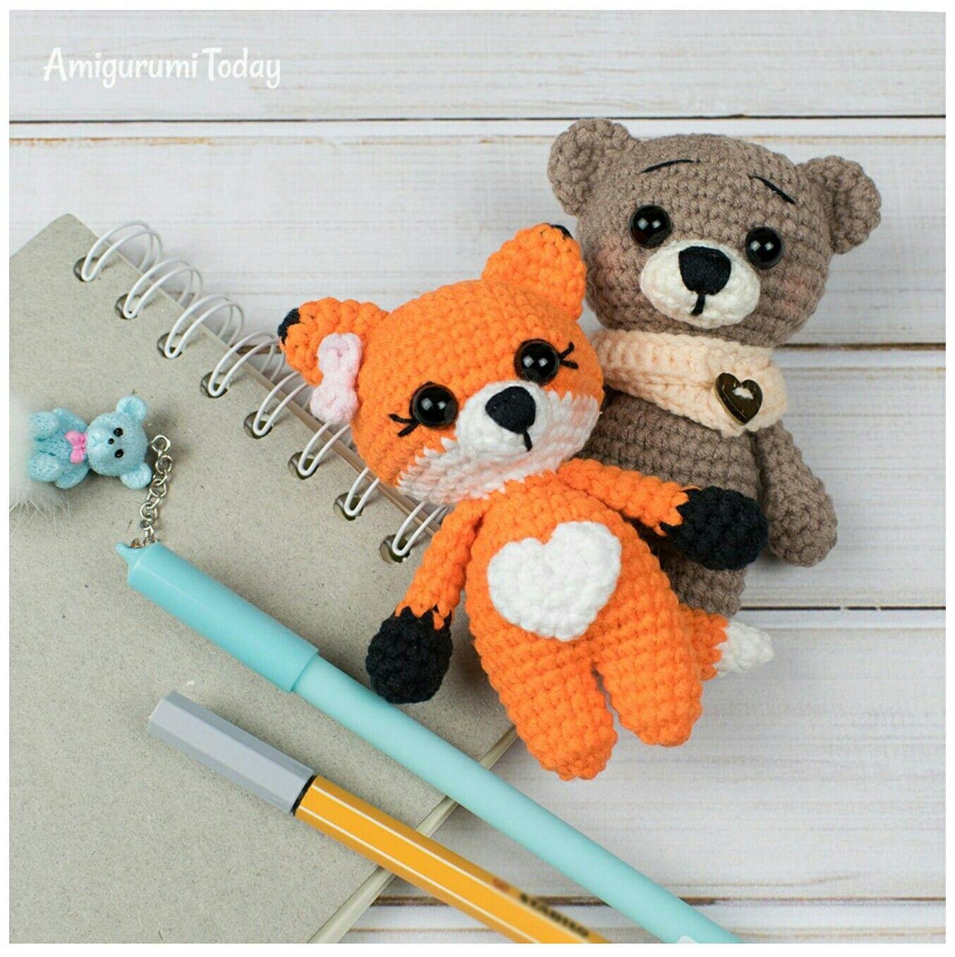 Tiny Fox Amigurumi Pattern Crochet Toys Patterns Crochet