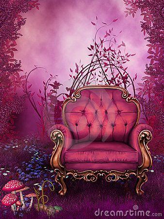 Pink Chair Fantasy Garden