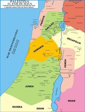 Resultado de imagen de mapa de israel en tiempos de Jesús