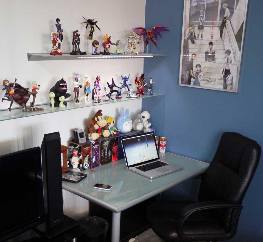 Blaue Glas Computer Schreibtisch, Büro Möbel Für Zu Hause Eine Der Besten  Optionen Für Blaue
