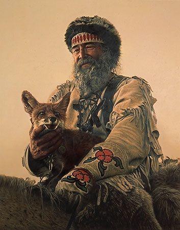 mountain man & fox