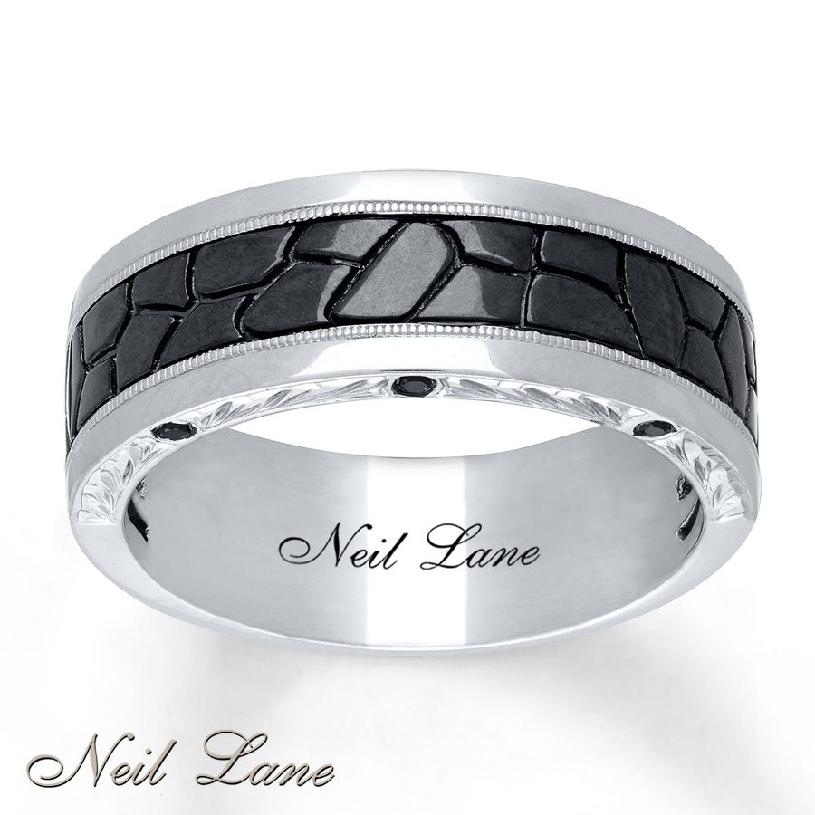 Neil Lane Mens Band 3 8 Ct Tw Black Diamonds 14k White Gold We Found His Wedding So Excited To Order It A Few Weeks Ll Both Have Ne