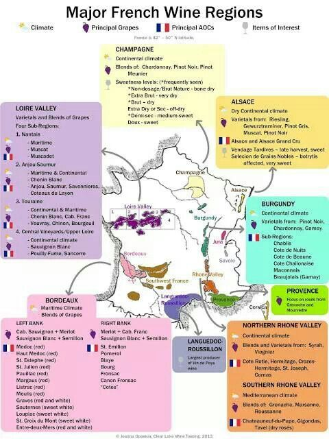 Mayor French wine regions