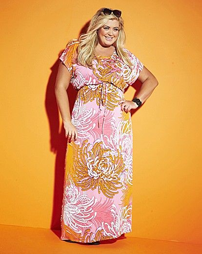 classic shoes new arrivals big discount Gemma Collins Jersey Maxi Dress With Drawstring Waist | Simply Be ...