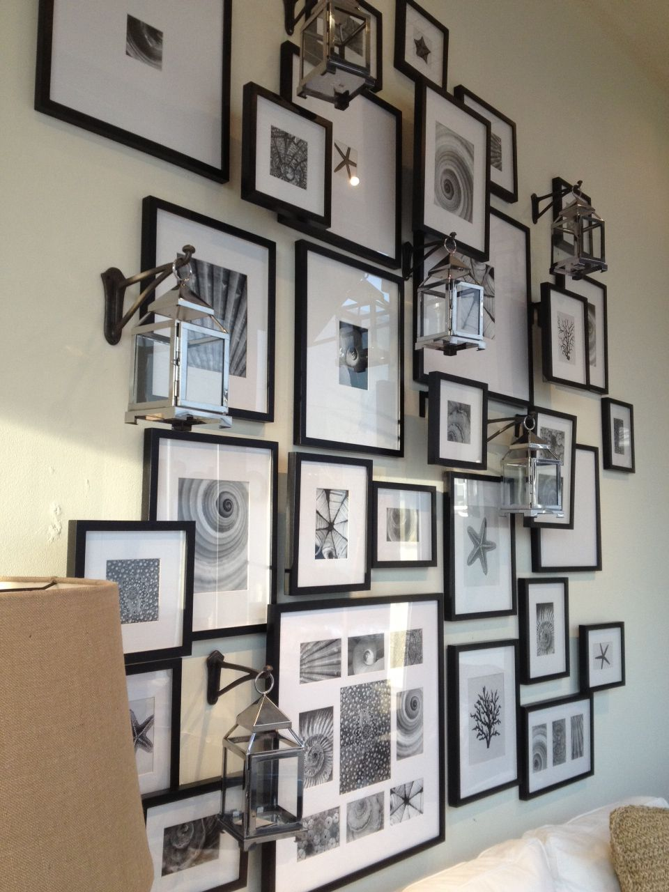 crate and barrel picture wall design picture wall wall gallery rh pinterest com