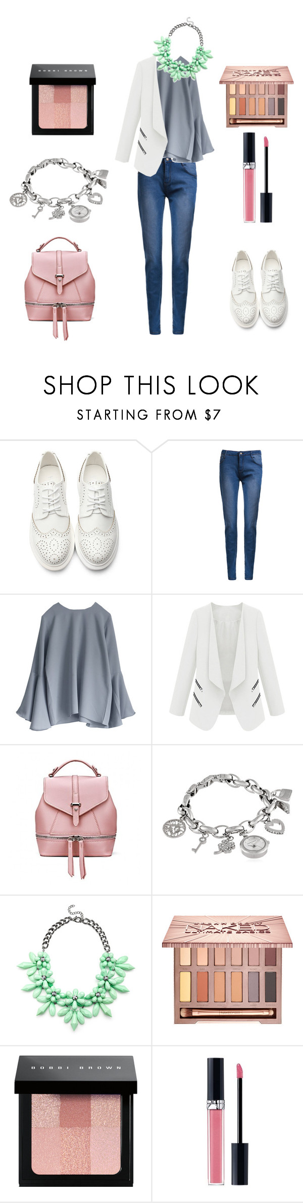 """""""Urban Chic"""" by keepfashion92 ❤ liked on Polyvore featuring Anne Klein, Slate & Willow, Urban Decay, Bobbi Brown Cosmetics, Christian Dior and urban"""