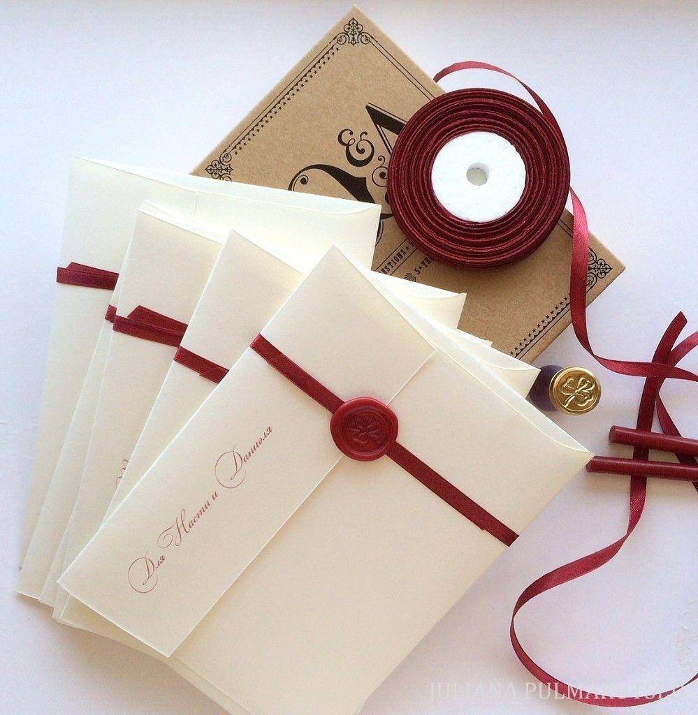 Wax Sealed Vintage Wedding Invitatios Wax Sealed Invitations