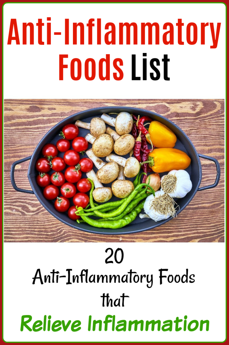 20 anti-inflammatory foods list for inflammation relief | natural