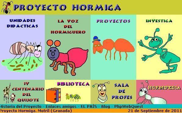 Proyecto Hormiga Trabajos Colaborativos Usando La Red La Colaboración En Práctica Hormigas Material Didactico Para Niños Niños De La Mano