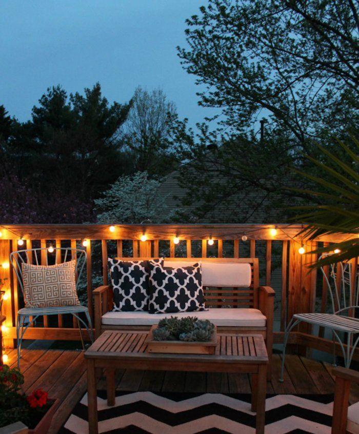 How To Decorate A Small Patio Patio Design Outdoor Deck Lighting Small Patio Garden
