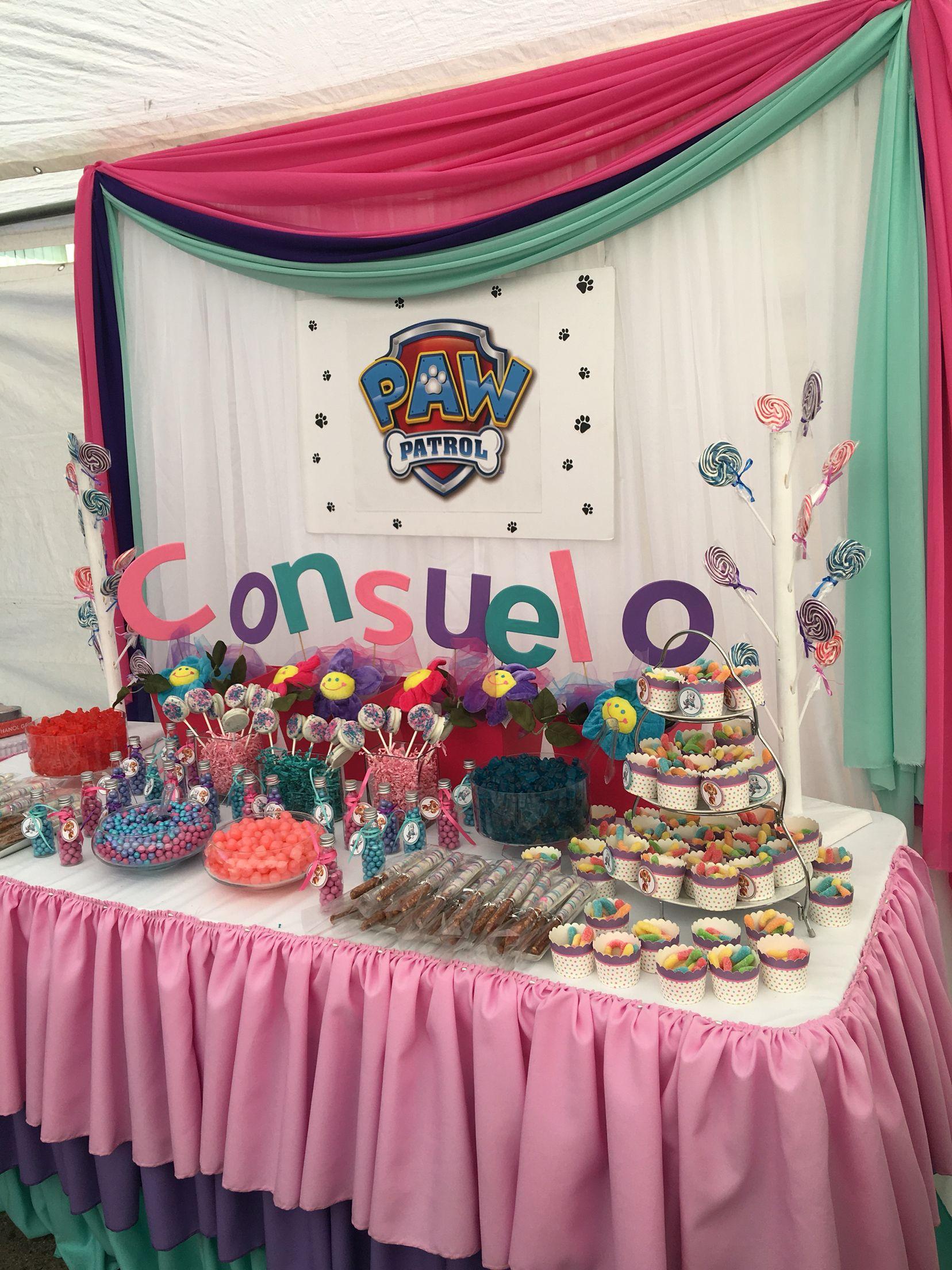 Paw Patrol Candy Buffet Skye Paw Patrol Party Fiesta Paw Paw Patrol Birthday