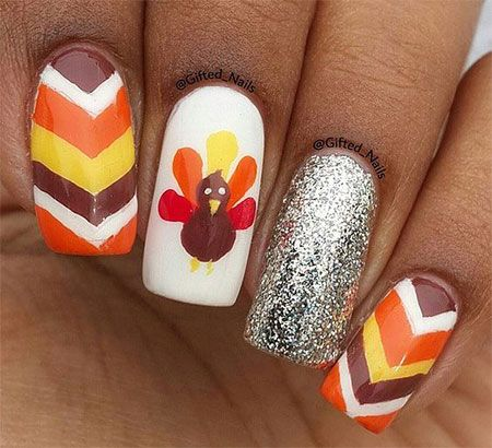 Thanksgiving Nails Thanksgiving Nail Art Designs Pinterest