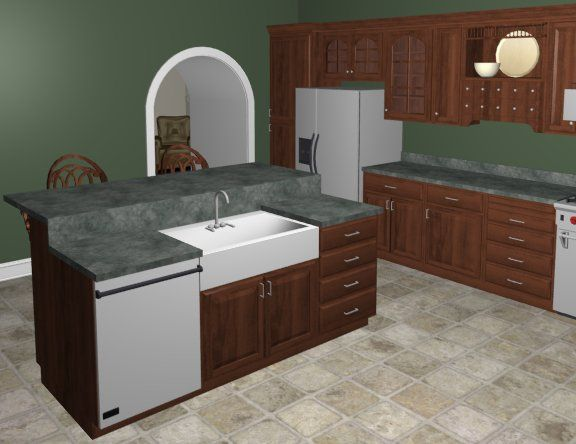 How To Place An Apron Sink Into A Cabinet Chief Architect