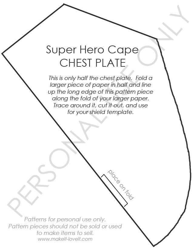 Chest Plate Template Sewing for Babies Pinterest Free - pip template
