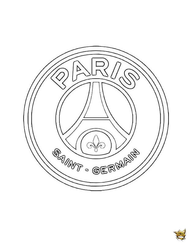 Coloriage Ecusson Foot Ligue 1.Psg Logo Coloriage Paris Coloriage Football Et Coloriage