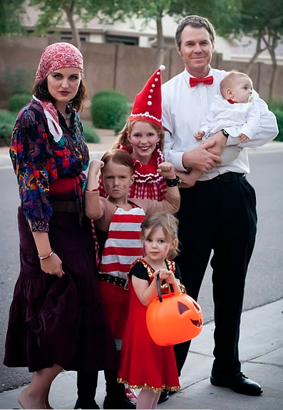 family attire fortune teller ring leader strong man clowns