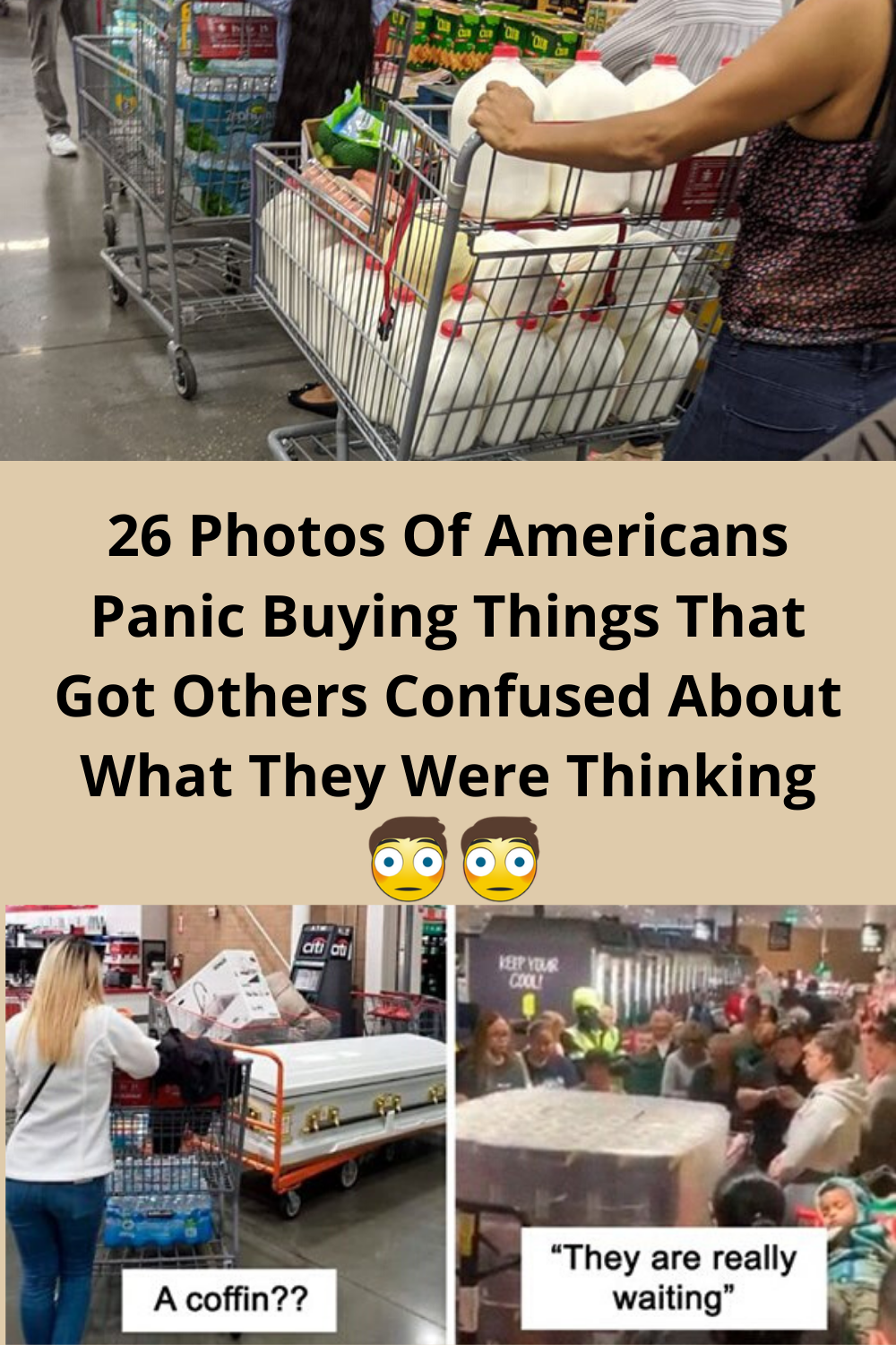 26 Photos Of Americans Panic Buying Things That Got Others