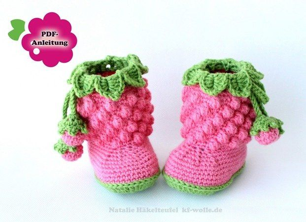 Baby-Schuhe // Baby-Stiefel // Baby-Booties selber häkeln: Häkle Dir ...