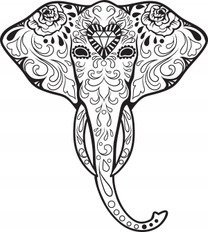 Sugar Skulls Archives Page 2 Of 3 Kidspressmagazine Com Skull Coloring Pages Elephant Tattoos Coloring Pages