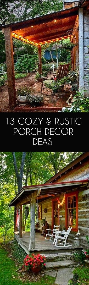 Rustic porch decor ideas for your home #rustic #porch   #rusticdecor #rusticfarmhouse #cabin #rusticporchideas