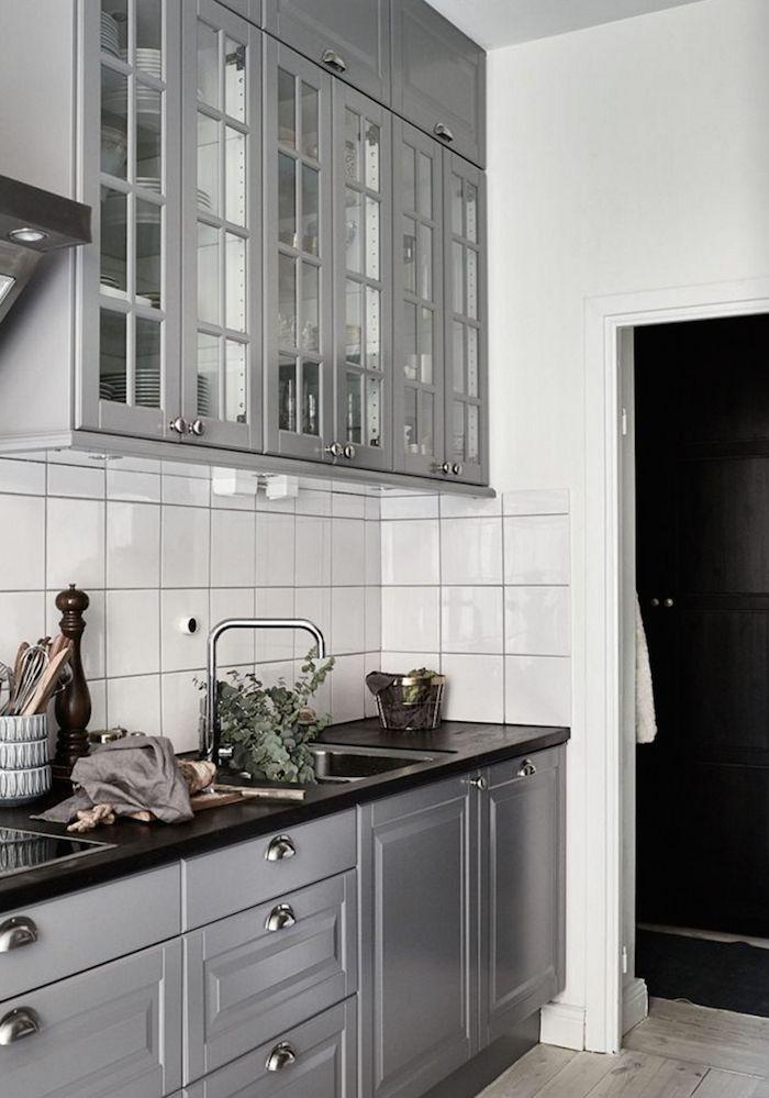 Küche Landhausstil in grau. | Küche | Pinterest | Grau, Brillen ... | {Küchen landhausstil grau 51}