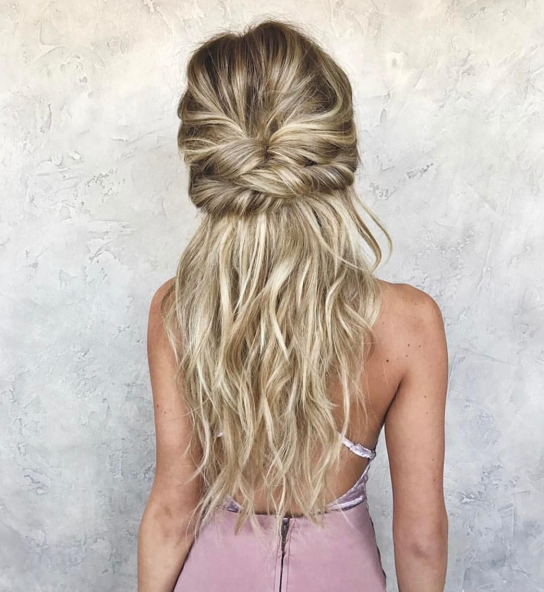 Latest Hair Style 2018 Attend Wedding Hair Tied Back: Pin By Kaylah Preece On Hairstyles In 2019