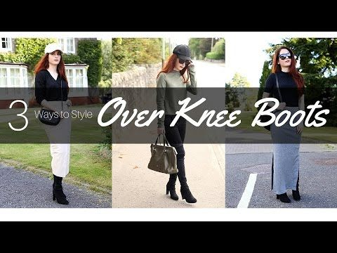 10819d3d541c How to Style Over Knee Boots: 3 Ways (Stuart Weitzman) | Krystel Couture -  YouTube