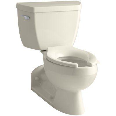 Kohler Barrington 1 6 Gpf Elongated Two Piece Toilet Finish Almond Kohler Elongated Toilet Seat Water Sense