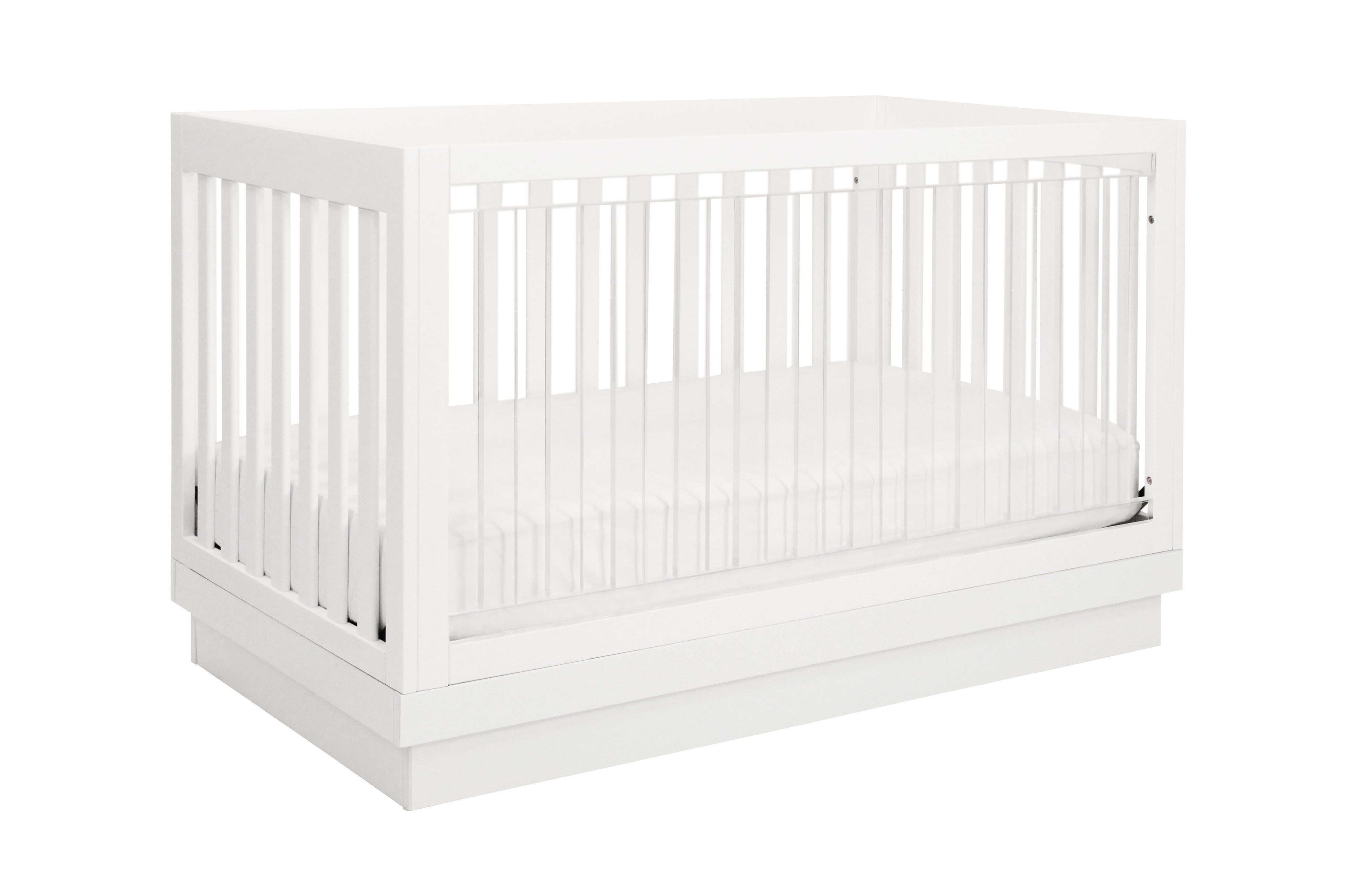 Harlow Acrylic 3-in-1 Convertible Crib with Toddler Bed Conversion Kit
