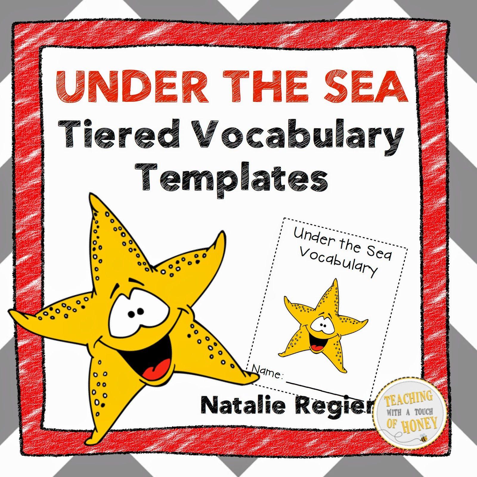 Under The Sea Tiered Vocabulary Templates Freebie