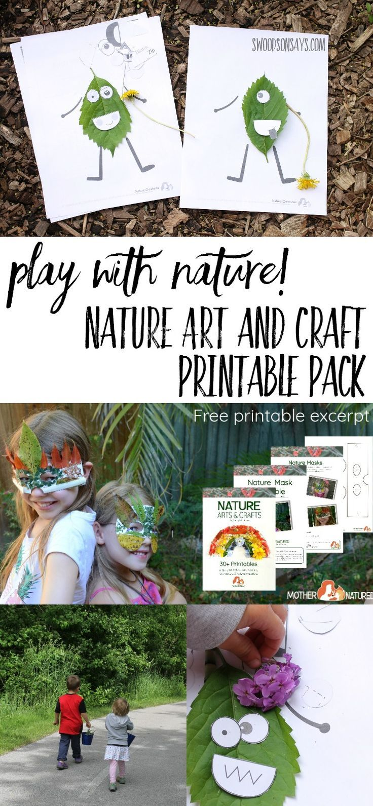 Nature Art Ideas Nature Crafts For Kids Printable Pdf Pack Fun