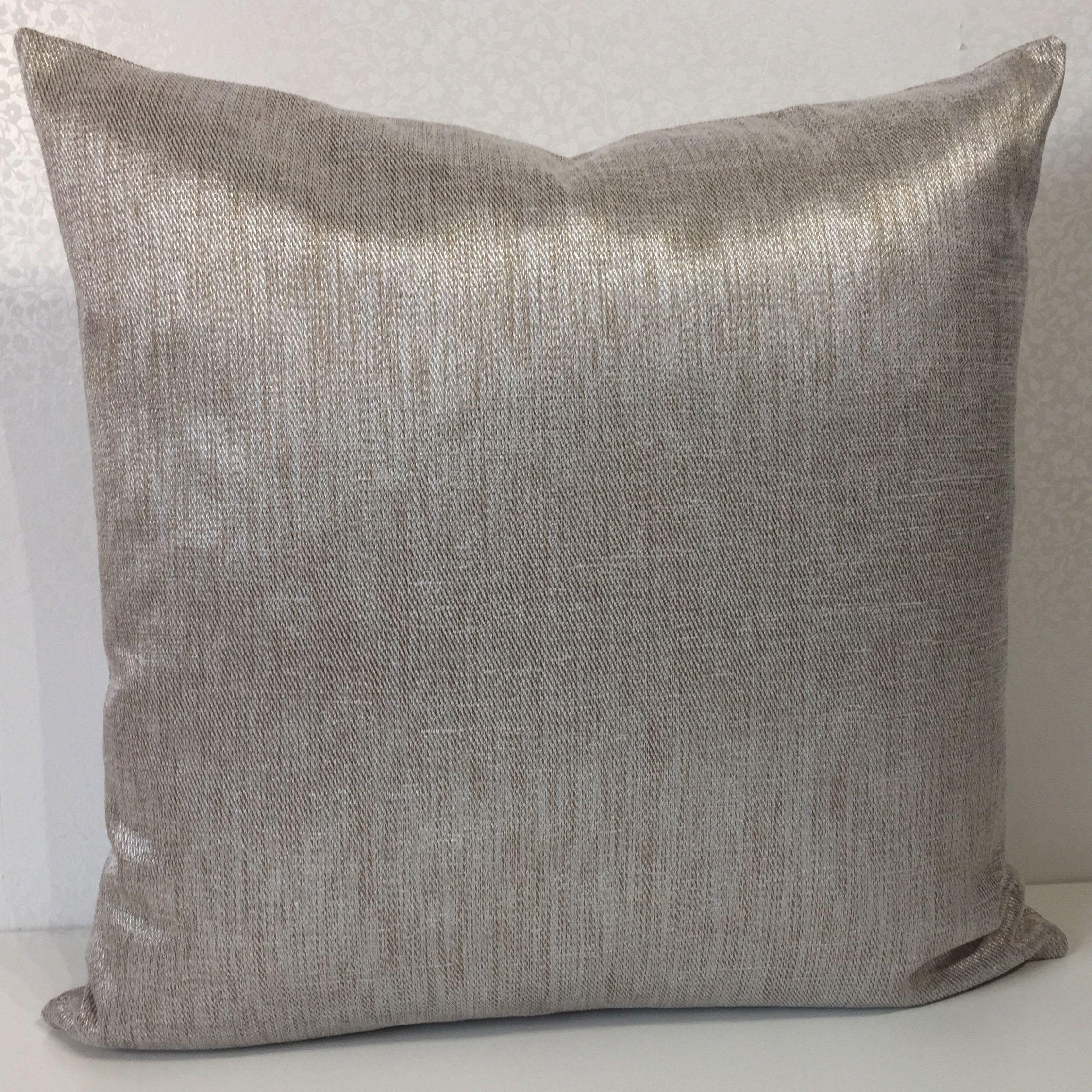 Metallic Gold Cushion Cover Plain Beige Cushion Cover Linen Cushion