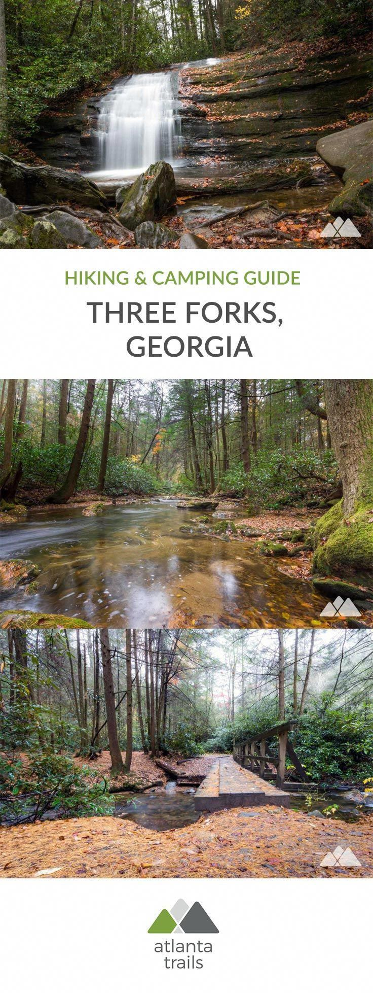 Hike, backpack and camp the beautiful, shady, waterfall