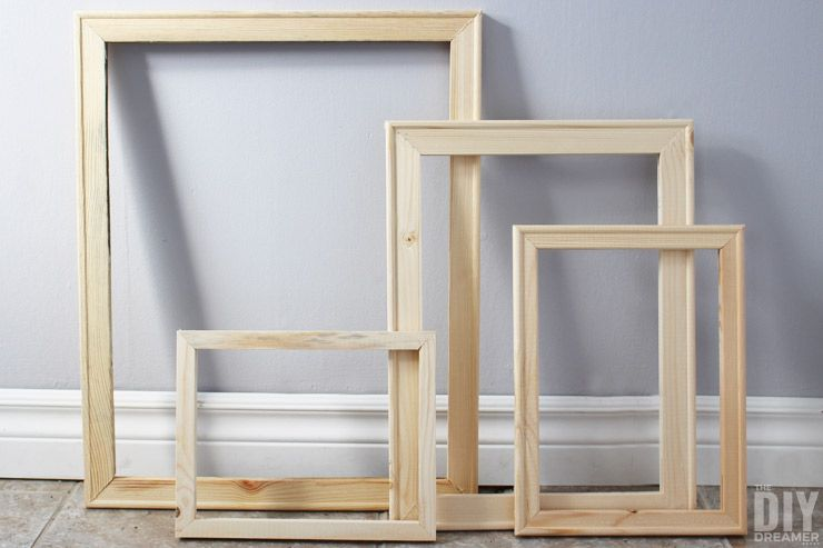 How to Make Cheap Wood Frames the Quick and Easy DIY Way | Home ...