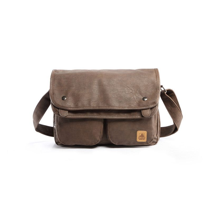 12750d9a1480 Vintage Men Messenger Bags High Quality Soft Pu Leather Laptop Business  Briefcase Large Capacity Travel Bag